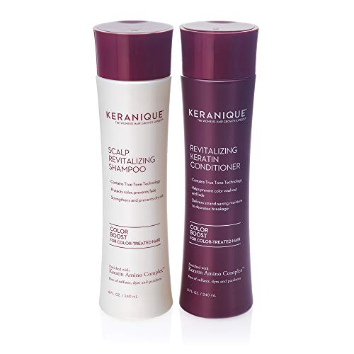 Keranique Color Boost Scalp Revitalizing Keratin Shampoo for Color Treated Hair | Keratin Hair Treatment | Keratin Amino Complex, Free of Sulfates, Dyes and Parabens