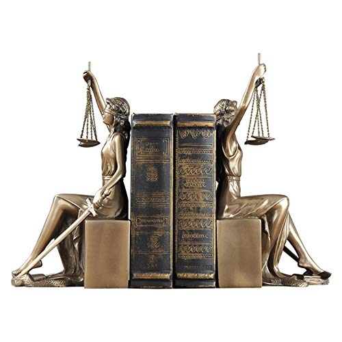 XY&YD Moderno Conjunto De Esculturas Themis,Resina Estatua De La Dama Ciega De La Justicia Figurine Fair Themis Titular del Libro Justitia Goddess Sculpture para Regalo De Abogado Estant-