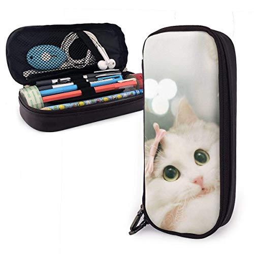 Estuche para lápices Cute Ragdoll Cat Lazy Art Themed Pattern Printed Mini School Pencil Case Holder Pouch Office Pen Box Zipper Bag Set Pu Leather Zip for Girls Boy Accesorios