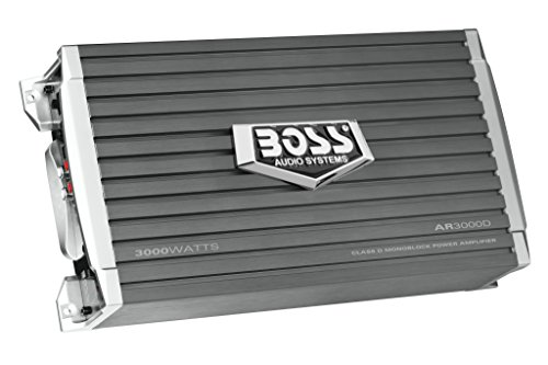 BOSS Audio Systems AR3000D Class D Car Amplifier - 3000 Watts, 1 Ohm Stable, Digital, Monoblock, Mosfet Power Supply