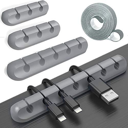 ケーブルホルダー,シリコンベース,ケーブル まとめる,ケーブルクリップデスク コンピュータデスク USBデータケーブル マウスライン キーボードライン 充電ケーブル ヘッドフォンケーブルの整理に適し 片づけ 優れるシリコン 両面テープ ケーブル 束ねる (