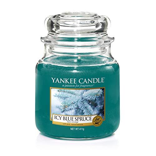 Yankee candle Jar Icy Blue Spruce Candela di Natale 5038581051130, Multicolore, Unica