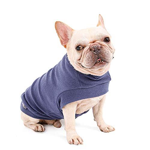 Dociote Hund Pullover - weiche und warm T-Shirt Hunde Winter Kleidung Mantel Katzenpullover für mittelgroße Hunde L Lilagrau