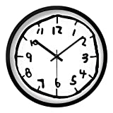 ZYLBDNB Persönlichkeits-Mute Wall Uhr, Kids Wall Uhr Modern Design Persönlichkeit Digital Wall Uhren Mute Bedroom Creative Graffiti for Living Room Watch