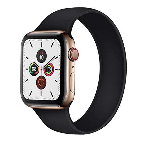 Correa de reloj Correa deportiva para Apple Watch 6 SE 5 4 bandas 44 mm 40 mm Pulsera de bucle elástico de silicona para la serie 3 2 1 42 mm 38 mm Reemplazo de correa