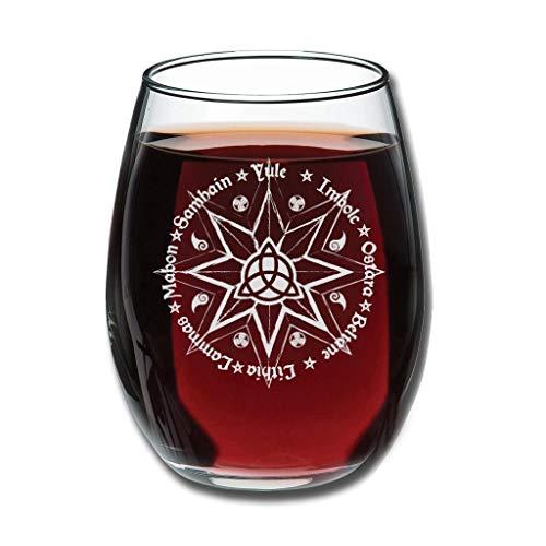 CATNEZA Grappige Libbey Stemless Rode Wijnglas - Tarot Permanent Gegraveerd Tumbler Perfect Idee Cadeau Idee Voor Office Medewerker en Beste Vriend 12 Oz
