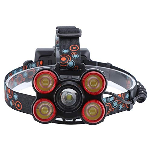 DPYF Accesorios Ajustables de la Diadema del Reflector de la Linterna de la Linterna del LED de la Noche al Aire Libre T6