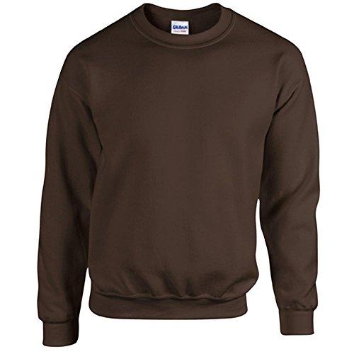 Gildan Heavy Blend Erwachsenen Crewneck Sweatshirt 18000 M, Dark Chocolate