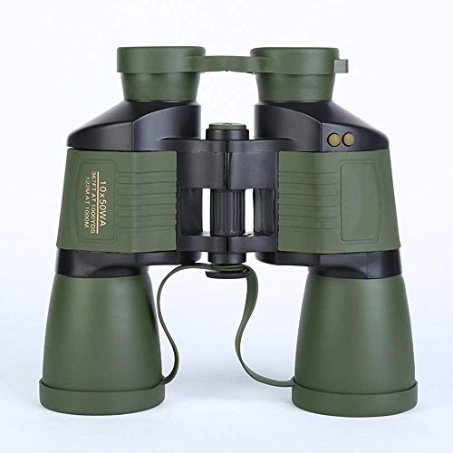 10X50 High-definition Verrekijkers Adult Outdoor Travel Low-light Night Vision Autofocus Telescope Life Waterproof Green 190 * 65 * 185mm buitenshuis ZHANGKANG