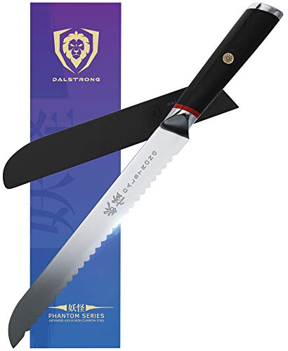 DALSTRONG Serrated Bread Knife - 9' - Phantom Series -...