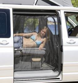 Brandrup Camping requisitos flyout 3Puerta Corredera para VW T5Kombi Beach Solo con Chapa Techo, 30017