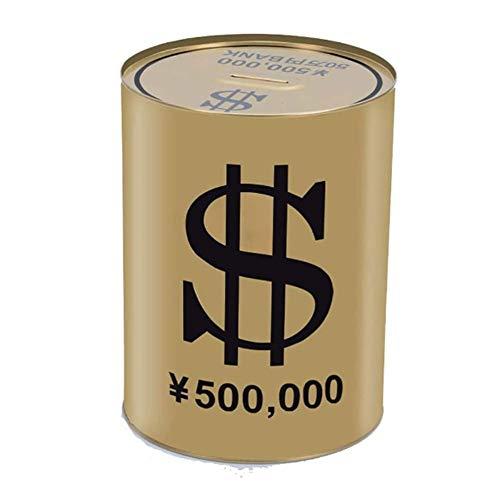 LIUSHENGFUBH Mortero y Maja Juegos de mortero y Mano Piggy Bank Creative Piggy Bank Metal Dinate Box TinPlance Ronda Cash Bank Cash Can Diny Box Dinero Ahorro Tarro