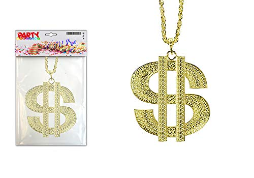 PARTY DISCOUNT ® Rapperkette/Dollar Symbol an Kette, gold