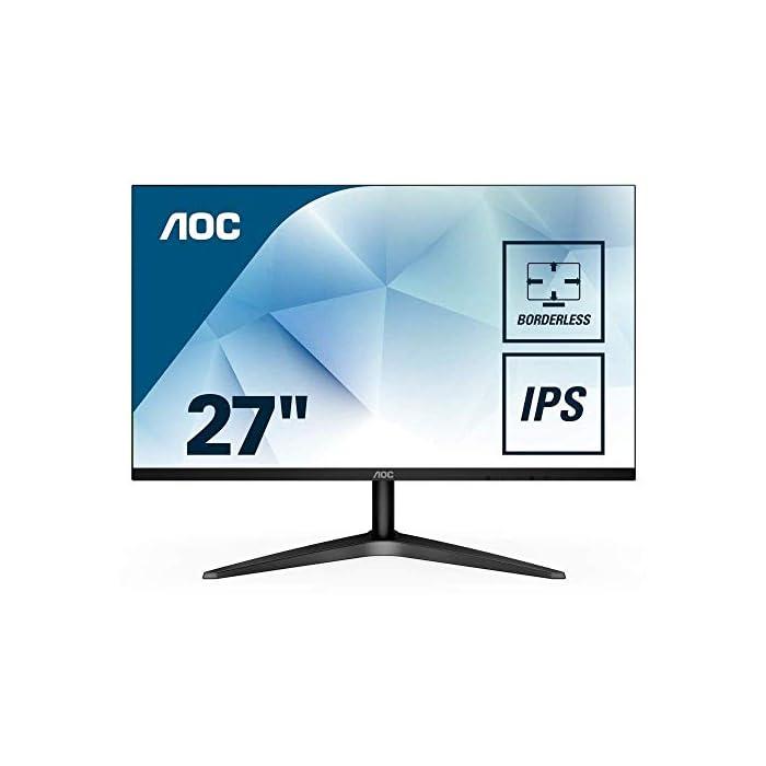 Moniteur Full HD Svelte Sans Cadre de 1920 x 1080 IPS, 27