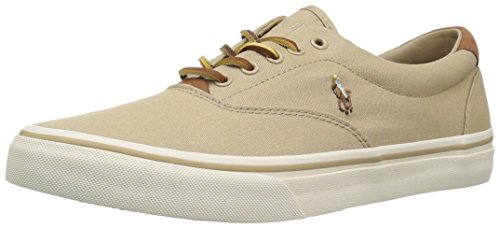 Polo Ralph Lauren Men's Thorton Sneaker, Khaki, 9 D US