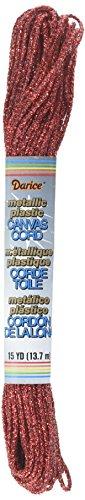 Darice Glitz Metallic Craft Cord - Red - 2mm