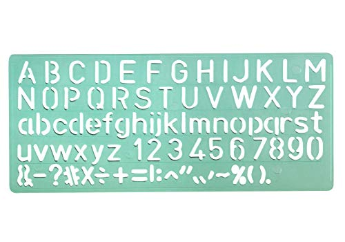 Linex 100412304 Lot de 30 gabarits de police 8510 Hauteur de caractères 10 mm Lettres dans grand et petit, ainsi que chiffres et symboles