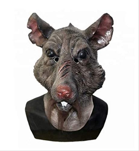tytlmaske Tier Ratte Splinter Latex Maske,Vollkopf-Overhead-Maske,Für Teenager Film Charakter Prop