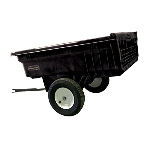 Rubbermaid Commercial Tractor Cart, 1,200 lbs. Capacity, Black, FG566000BLA