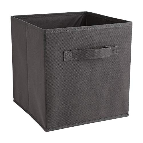 Cocoarm Foldable Storage Cube, 6Pcs Fabric Storage Box Non-Woven Drawer Boxes Open Storage Box for Toys Clothing Books Files Home Office 26.9 * 26.2 * 27.8cm(Gris Foncé)