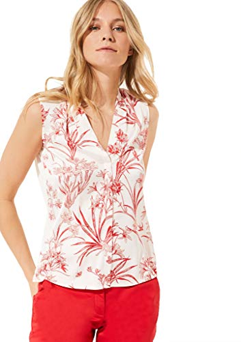 COMMA 81.004.34.5461 T-Shirt Damen, Mehrfarbig (01B6 AOP Porcelain Flower), 40 EU