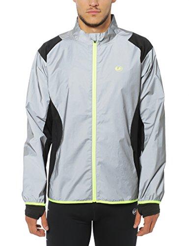 Ultrasport Herren Lauf-/fahrradjacke Lauf-fahrradjacke UltraVisible, Mehrfarbig (Black), L