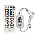 Zhou-YuXiang Controlador Led RGB DC5-24V Control de música inalámbrico 40 Teclas 16 Millones de Colores con Modo de Temporizador para 5050 2835 Strip