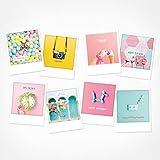 PICKMOTION BPK-0210-INT ¡Sorpresa de cumpleaños!, Set de postales, 8 postales con fotos - Fotos de fotógrafos de Instagram, diseñadas en Berlín, Felicitaciones de cumpleaños