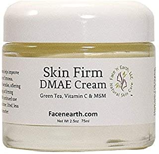DMAE Lift & Firm Face & Neck Cream 77% Organic with MSM Vitamin C For Dry Skin, Fine Lines, Wrinkles, Helps Lift, Firm, Bo...