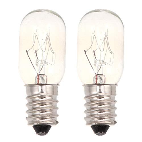 Mobestech 2 Stks Koelkast Lamp Retro E14 220-230 V Koelkast Licht Wolfraam Gloeidraad Lamp Vervanging Voor Oven Vriezer 25 W (Warm Licht)