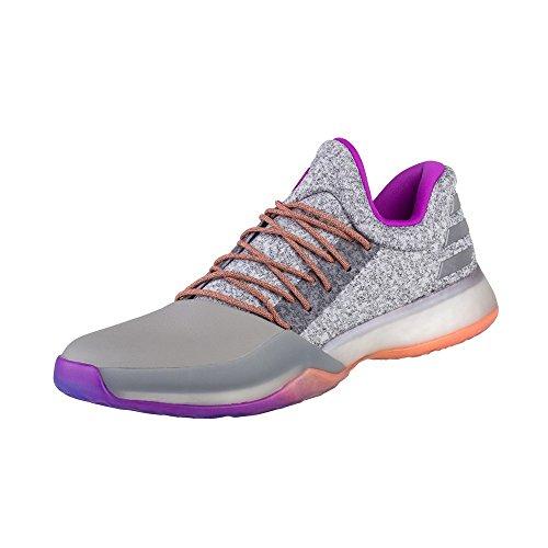 Adidas - Harden Vol 1 - BW0549 - El Color: Grises-Blanco-Violeta - Talla: 46.6