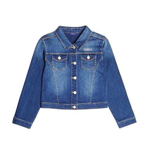 Guess Mädchen Jeansjacke, Denim Jacke J81L21 D29H0 blau (7 Jahre (122))