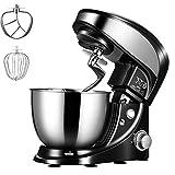 YXXJ Küchenmaschine Knetmaschine, Albohes Teigknetmaschine 500W, Enthält 4L Rührschüssel mit Spritzschutz, Flachrührer, Knethaken, Schneebesen