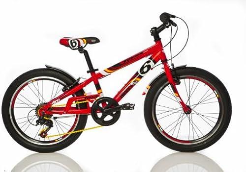 Kinderfahrrad Jungen Dino Bikes Fast Boy 20 Zoll mit 2 Bremsen am Lenker 6 Gang Schaltgetriebe Rot