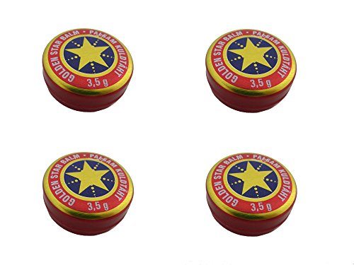 4x (4Stück) Balsam Golden Stern Balm бальзам Звездочка Золотая звезда