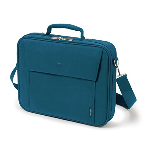 Dicota Multi 15-17.3 Inch BASE Laptop Computer and Tablet Shoulder Bag, Lightweight Clamshell Laptop Case, Blue