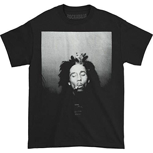 Bob Marley Camiseta Smoking Hombre Negro - negro - Medium