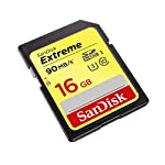 Sandisk 16gb extreme sdhc uhs-i memory card - 90mb/s, c10, u3, v30, 4k uhd, sd card - sdsdxne-016g-gncin 10 shot speeds up to 40mb/s*, transfer speeds up to 90mb/s* requires compatible devices capable of reaching such speeds. | *based on internal testing; performance may be lower depending upon host device, interface, usage conditions and other factors perfect for shooting 4k uhd video(1) and sequential burst mode photography | (1)full hd (1920x1080) and 4k uhd (3840 x 2160) video support may vary based upon host device, file attributes and other factors capture uninterrupted video with uhs speed class 3 (u3) and video speed class 30 (v30)(2) | (2)sustained video capture rate of 30mb/s, designates a performance option designed to support real-time video recording with uhs enabled host devices