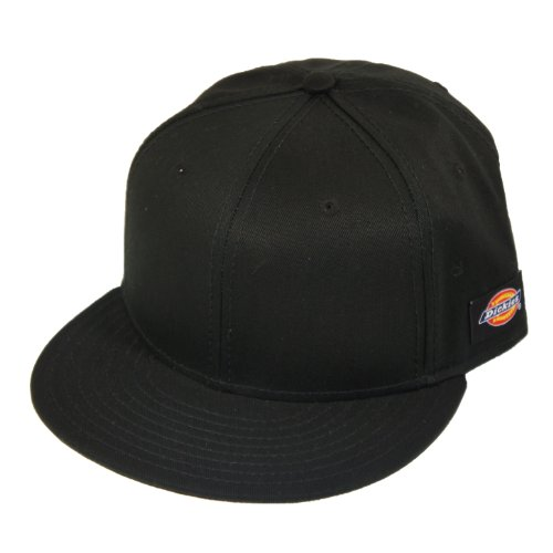 Dickies Mens Solid Black Adjustable Snapack Baseball Cap - L/XL