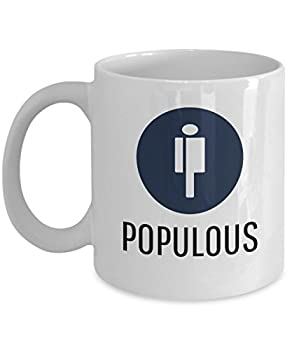 Official Populous Cryptocurrency Mug Acrylic Coffee Holder White 11oz Crypto Miner Blockchain Invest Trade Buy Sell Hold PPT