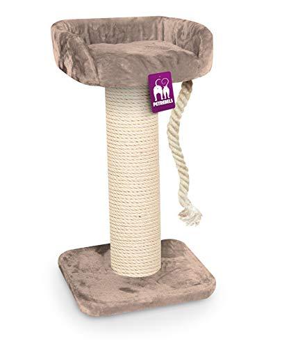 Petrebels Kratzbaum Maine Coon 100 Cappuccino, Extrem Stabiler Kratzbaum XXL für große Katzenrassen, auch für Maine Coon, Norwegische Waldkatzen oder Ragdolls, 100 cm, Farbe Cappuccino