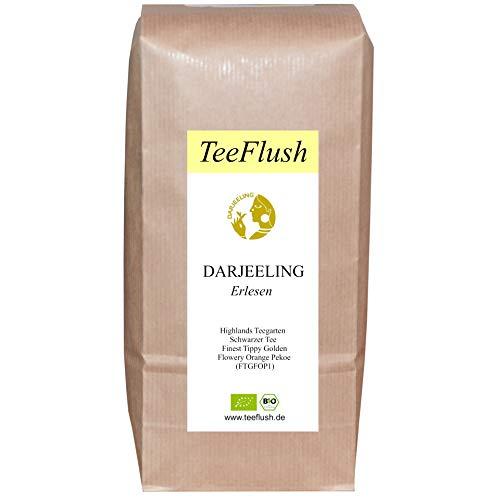Spitzen - Darjeeling First Flush, FTGFOP1, 2020, Bio, 500g, Schwarztee, lose, Highlands Teegarten, Geschmack: spritzig-frisch