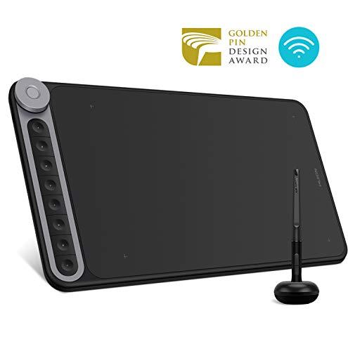HUION Inspiroy Dial Q620M Grafiktablett Zeichentablett mit 8192 Batteriefreier Stift mit 8 Tastenkombinationen und 1 Dial, Kabellose Verbindung, Kompatibel mit Windows, MacOS, Android
