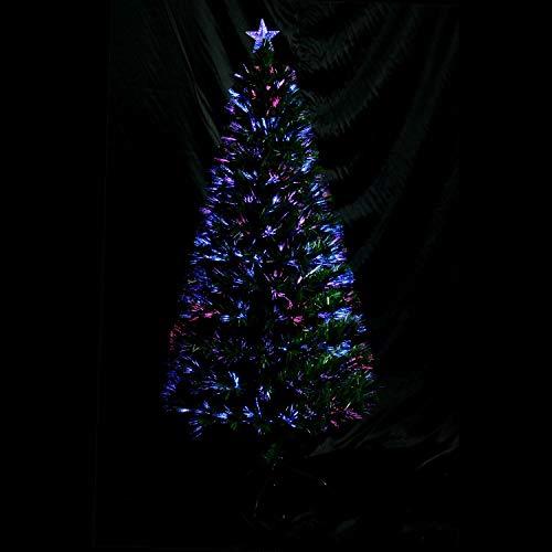 HISP GLA 6ft 180cm Green Fibre Optic Christmas Tree Various Effects Xmas...