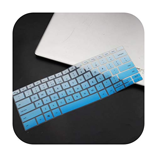 Silicone Notebook laptop Keyboard cover protector skin For 2019 Dell XPS 13 7390 2-in-1 13.3'-fadeblue