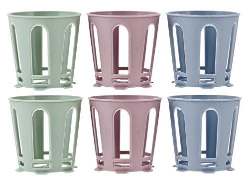 H&H 835700 Set 6 Supporti per Bicchiere, Plastica, Multicolore, 6 unità