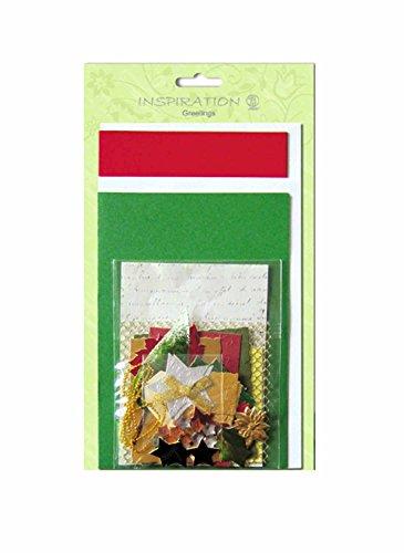 Ursus 56100012 - Greetings Kartenset, Christmas classic, 4 Karten und 4 Couverts in 2 Größen, verschiedenen Papierqualitäten, Accessoires zum Dekorieren, zum Selbstgestalten von Karten und Briefen
