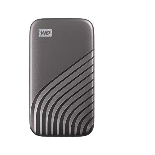 WD My Passport SSD 500GB - tecnología NVMe, USB-C, velocidad de lectura hasta 1050MB/s & de escritura hasta 1000MB/s - Gris