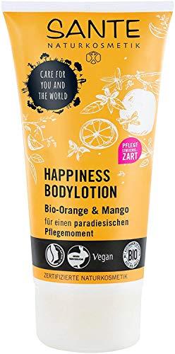 SANTE Naturkosmetik Happiness Bodylotion, Tropischer Duft, Intensive Feuchtigkeit, 150ml