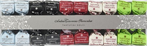 Antica Torroneria Piemontese Tartufini gemischte Trüffelpralinen in Geschenkbox aus Italien, 1er Pack (1 x 140 g)